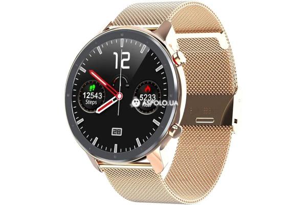 Смарт-годинник Microwear L11 з ЕКГ Metal gold