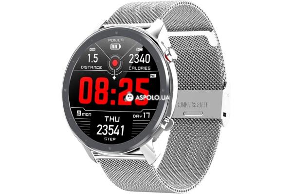 Смарт часы Microwear L11 с ЭКГ Metal silver