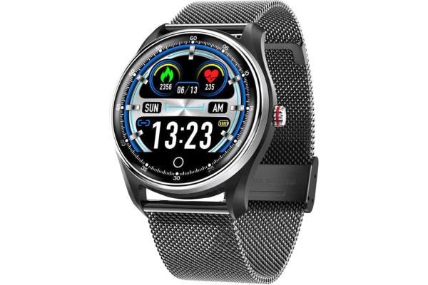 Смарт часы с тонометром и ЭКГ MX9 Black