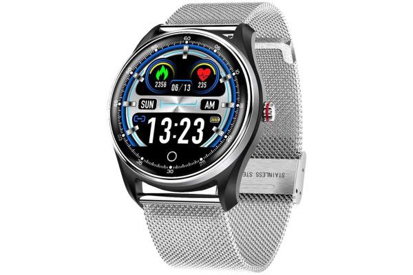 Смарт часы с тонометром и ЭКГ MX9 Silver