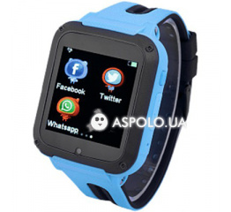 Купить Детские cмарт часы с GPS трекером G3 blue