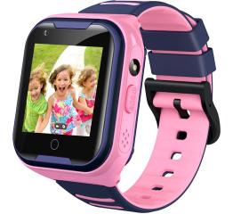 Купить Детские смарт часы с GPS трекером A36E 4G pink