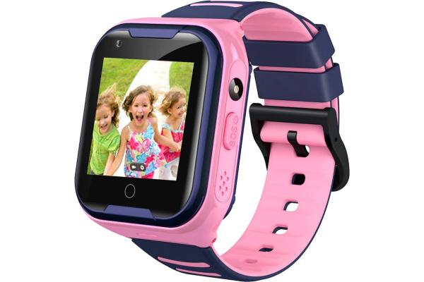 Детские смарт часы с GPS трекером A36E 4G pink