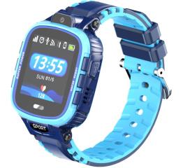 Купить Детские смарт часы с GPS трекером DF45 blue