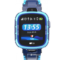 Купить Детские смарт часы с GPS трекером DF45 blue в Украине