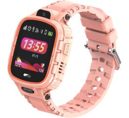 Купить Детские смарт часы с GPS трекером DF45 pink
