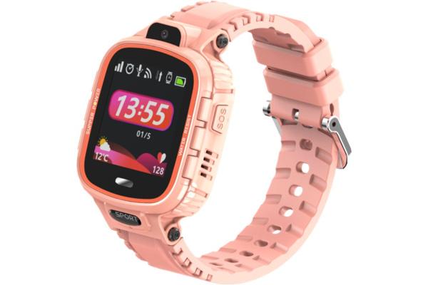 Детские смарт часы с GPS трекером DF45 pink