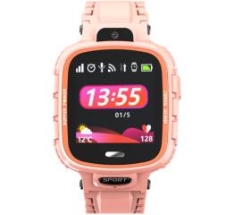 Купить Дитячий смарт-годинник з GPS трекером DF45 pink в Украине