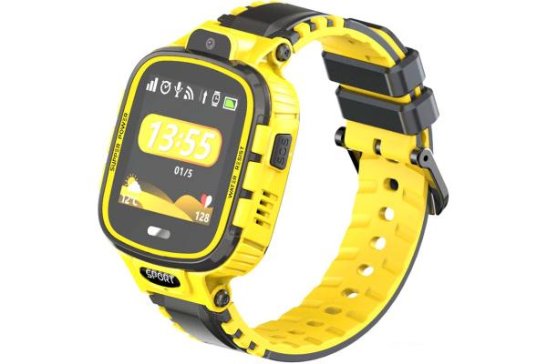 Детские смарт часы с GPS трекером DF45 yellow