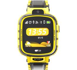 Купить Детские смарт часы с GPS трекером DF45 yellow в Украине
