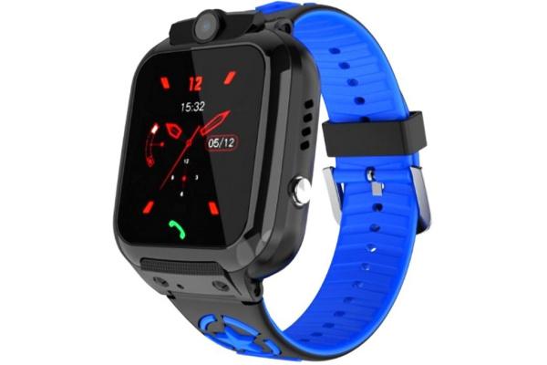 Детские смарт часы с GPS трекером DS60 black-blue