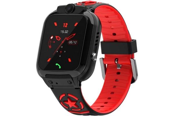 Детские смарт часы с GPS трекером DS60 black-red