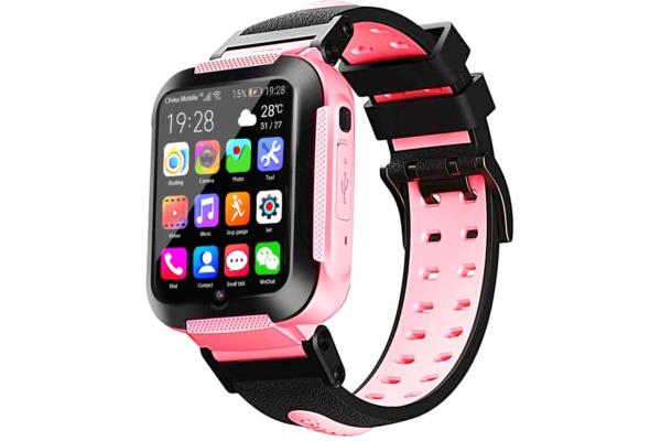 Детские смарт часы с GPS трекером E7 4G (2 ядра) pink
