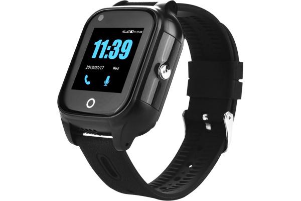 Детские смарт часы с GPS трекером FA28 4G black