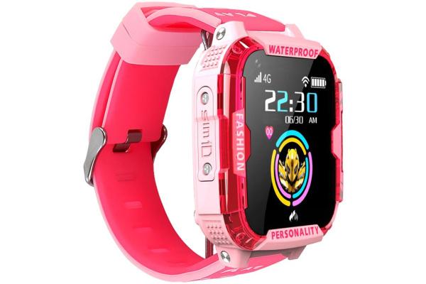 Детские смарт часы с GPS трекером K22 4G pink