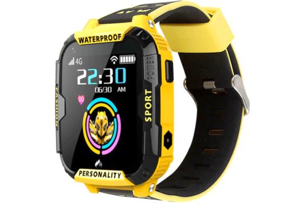 Детские смарт часы с GPS трекером K22 4G yellow