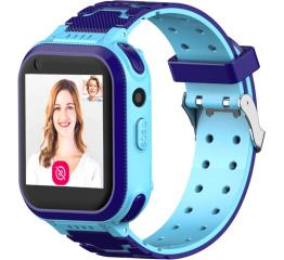 Купить Дитячий смарт-годинник з GPS трекером T3 4G blue