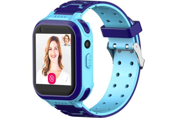 Детские смарт часы с GPS трекером T3 4G blue