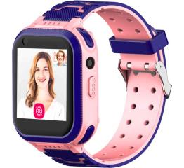 Купить Детские смарт часы с GPS трекером T3 4G pink