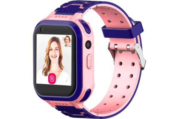 Детские смарт часы с GPS трекером T3 4G pink