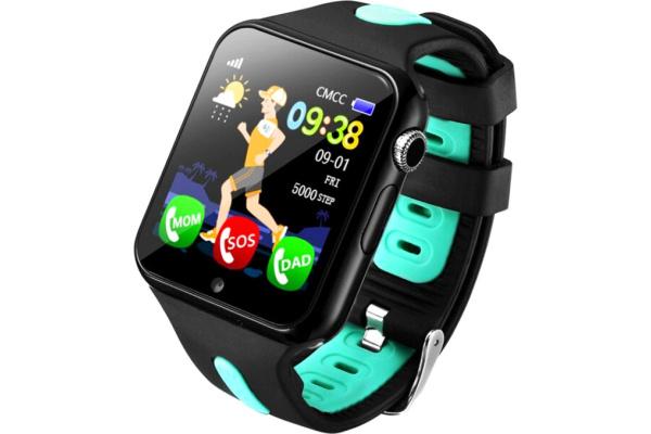 Детские смарт часы с GPS трекером V5K black-green