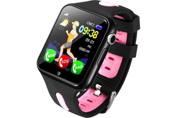 Детские смарт часы с GPS трекером V5K black-pink