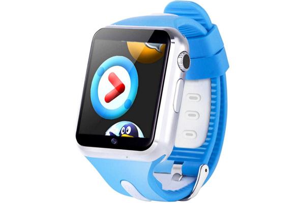 Детские смарт часы с GPS трекером V5K Steel blue