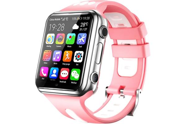 Детские смарт часы с GPS трекером W5 4G (2 ядра) pink