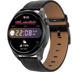 Купить Смарт часы DT3 с ЭКГ Leather black