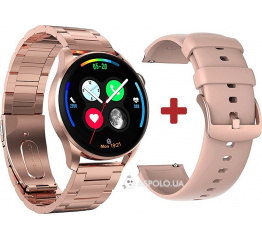Купить Смарт часы DT3 с ЭКГ Metal gold в Украине