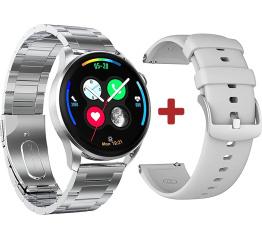 Купить Смарт часы DT3 с ЭКГ Metal silver в Украине