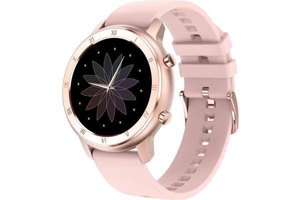 Смарт часы DT89 с ЭКГ gold-pink