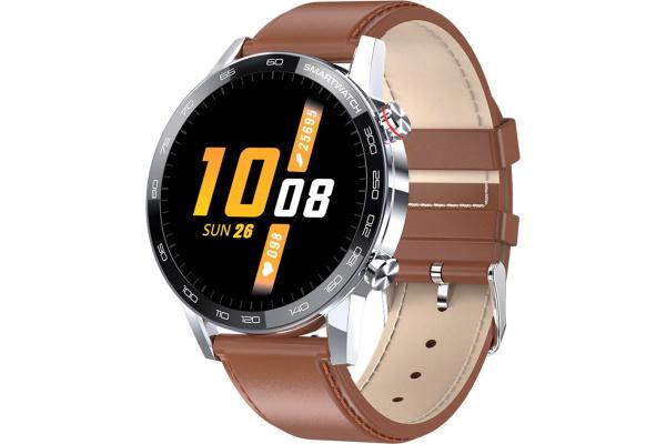 Смарт часы Microwear L13 с ЭКГ Leather brown