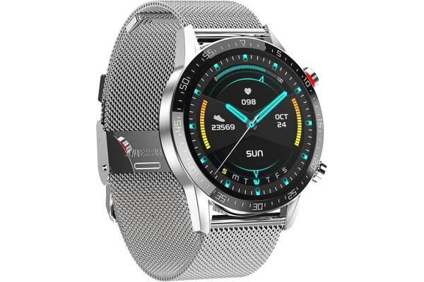 Смарт часы Microwear L13 с ЭКГ Metal silver