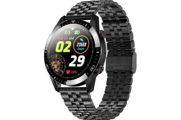 Смарт часы TK28 с ЭКГ Metal black