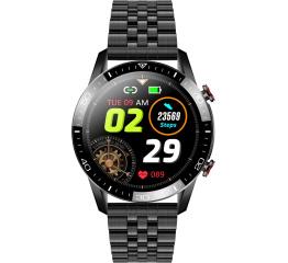 Купить Смарт часы TK28 с ЭКГ Metal black в Украине