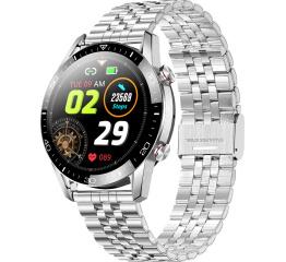 Купить Смарт часы TK28 с ЭКГ Metal silver