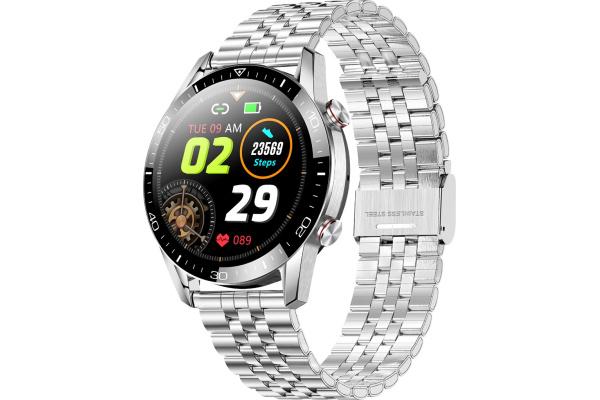 Смарт часы TK28 с ЭКГ Metal silver