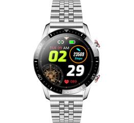 Купить Смарт часы TK28 с ЭКГ Metal silver в Украине